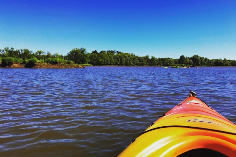 Kayaking on Scappoose Bay
