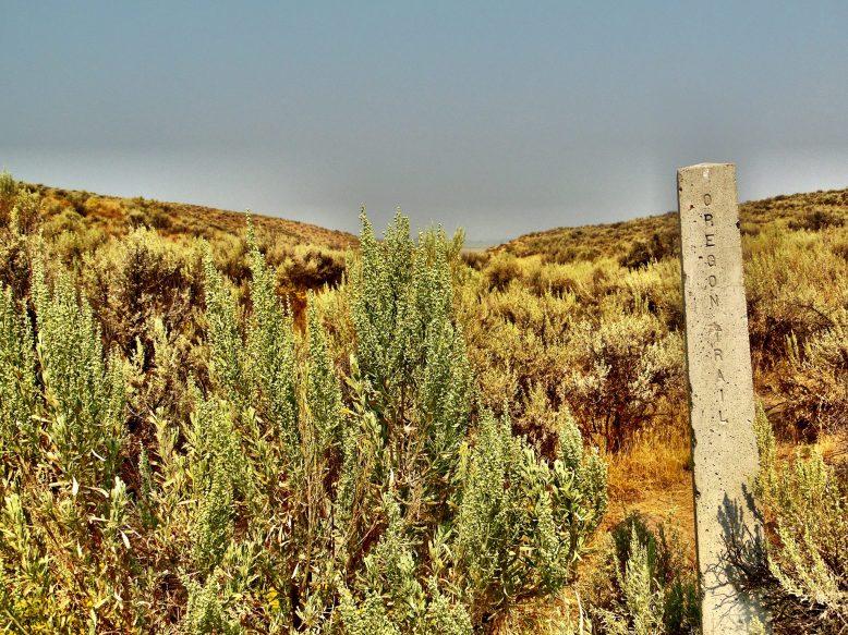 Oregon Trail ruts at the National Historic Oregon Trail Interpretive Center